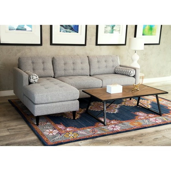 Well Known Aidan Ii Sofa Chairs Pertaining To Shop Abbyson Aiden Grey Mid Century Tufted Sectional – Free Shipping (View 18 of 20)