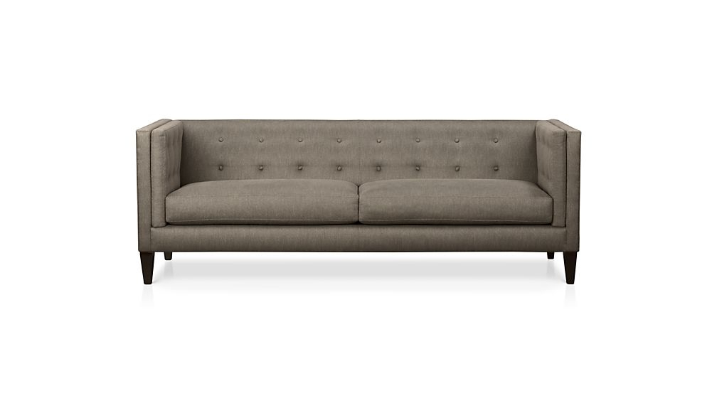 Well Known Aidan Ii Sofa Chairs Throughout Aidan Grey Tufted Sofa + Reviews (View 5 of 20)