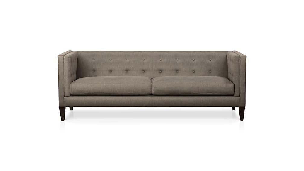 Well Known Aidan Ii Sofa Chairs Throughout Aidan Grey Tufted Sofa + Reviews (View 20 of 20)