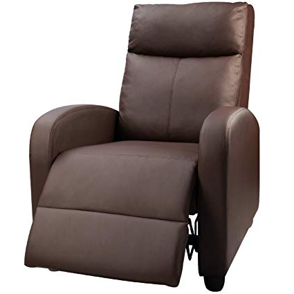 Well Known Amazon: Devoko Manual Single Recliner Chair Pu Leather Modern In Sofa Chair Recliner (View 7 of 20)