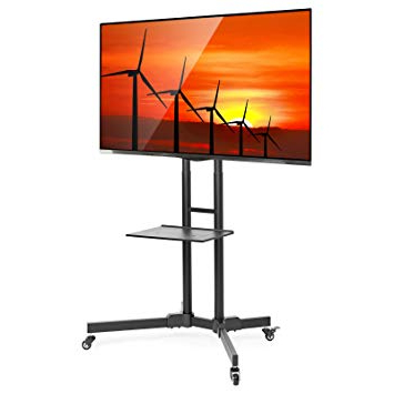 Well Known Amazon: Mount Factory Rolling Tv Stand Mobile Tv Cart For 32 65 Throughout 61 Inch Tv Stands (View 20 of 20)