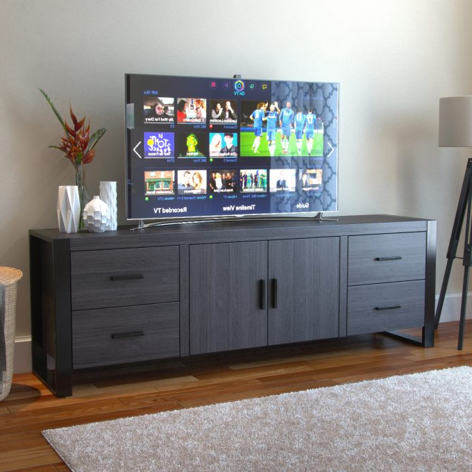 Well Known Annabelle Black 70 Inch Tv Stands For Furniture: 70 Inch Tv Stand For Family And Living Room (View 3 of 20)