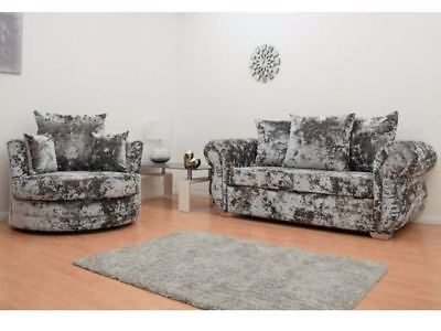 Well Known Beckham 3 Seater Sofa And Cuddle Chair Set In Crushed Velvet Lawson Throughout 3 Seater Sofa And Cuddle Chairs (View 6 of 20)