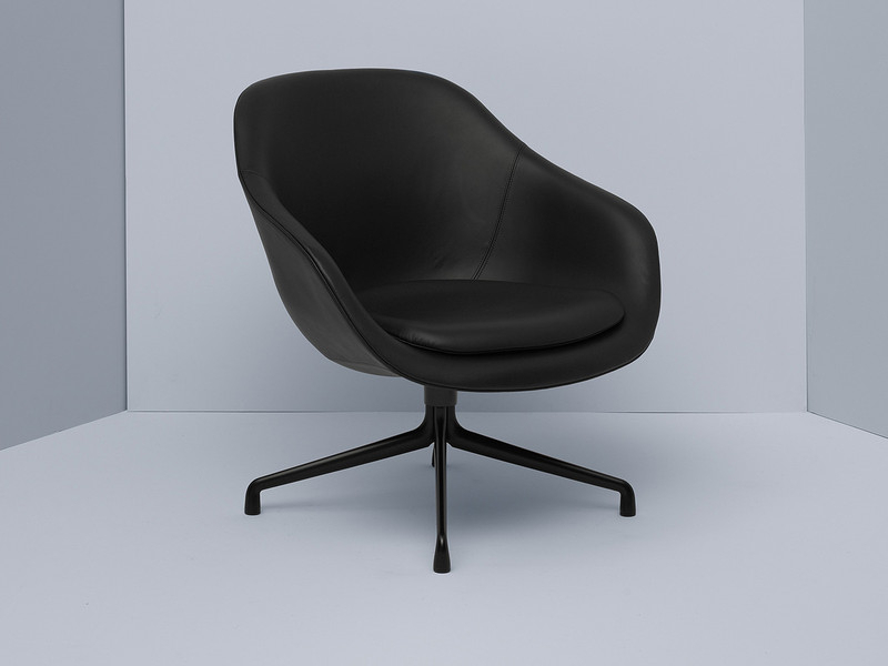Well Known Buy The Hay About A Lounge Chair Low Aal81 – Black Swivel Base At Pertaining To Leather Black Swivel Chairs (View 19 of 20)