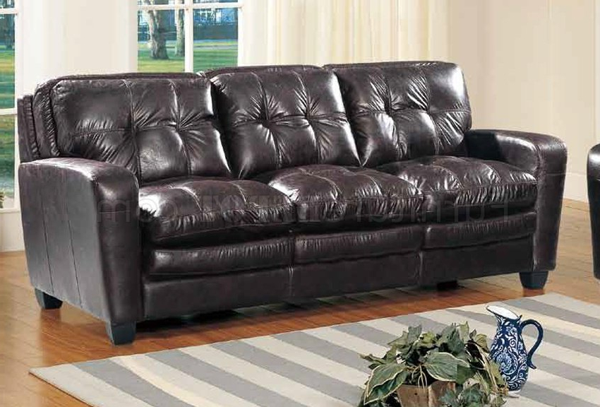 Well Known Gina Grey Leather Sofa Chairs With Regard To Gina Sofa In Brown Bonded Leather W/optional Loveseat & Chair (View 20 of 20)
