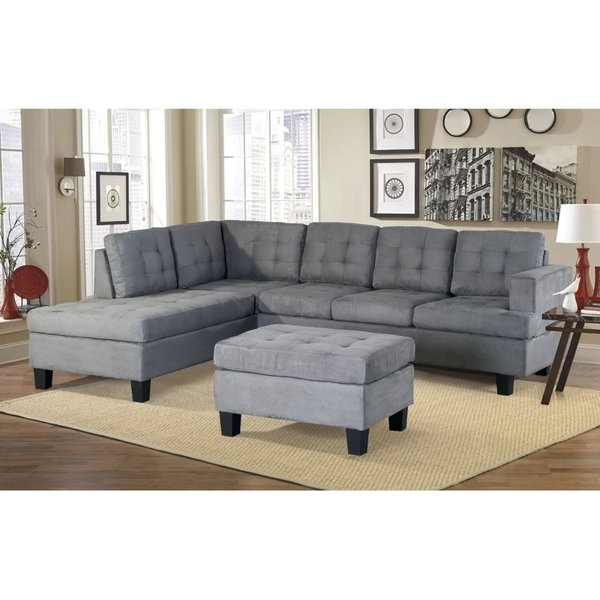 Well Known Harper Down Oversized Sofa Chairs For Shop Harper & Bright Designs 3 Piece Sectional Sofa With Chaise And (View 20 of 20)