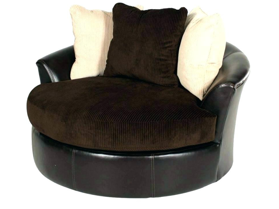 Well Known Large Round Chair And A Half Large Swivel Chair Newest Sofas With Throughout Circle Sofa Chairs (View 19 of 20)