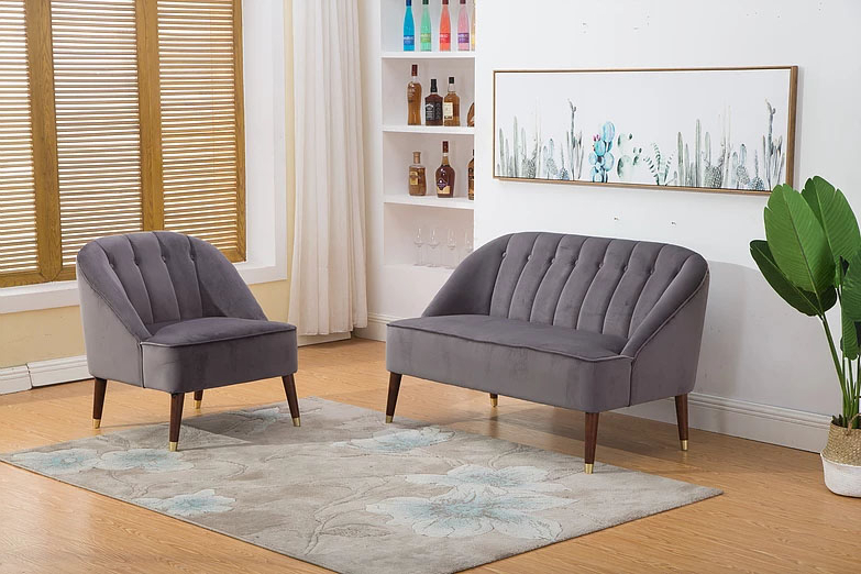 Well Known Lucy Grey Sofa Chairs In Lucy Grey Fabric 1 Seater Sofa (View 19 of 20)