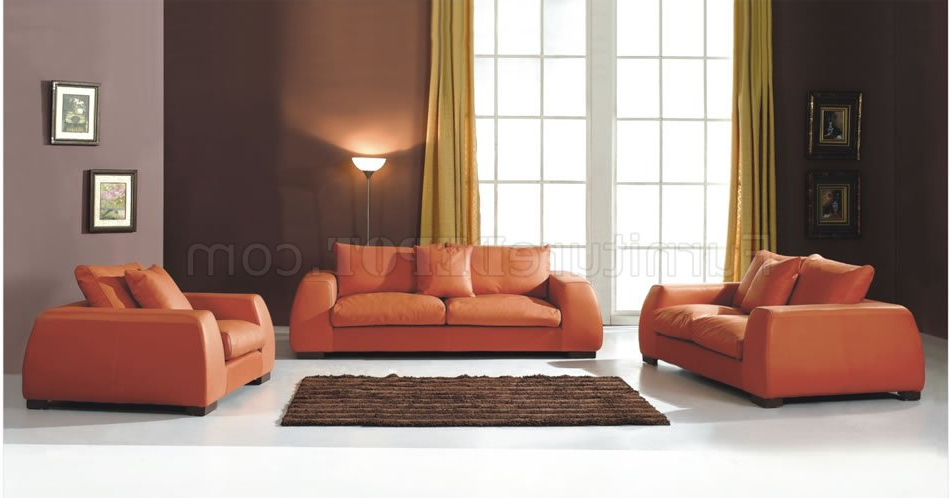Well Known Orange Living Room Furniture Modern Burnt Orange Living Room Sofa Inside Orange Sofa Chairs (View 19 of 20)