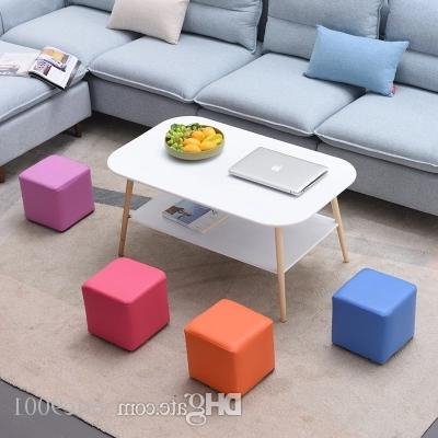 Well Known Sofa Chair And Ottoman Throughout 2019 Fashion Square Stool Ottoman Sofa Chair Footstools Portable (View 16 of 20)