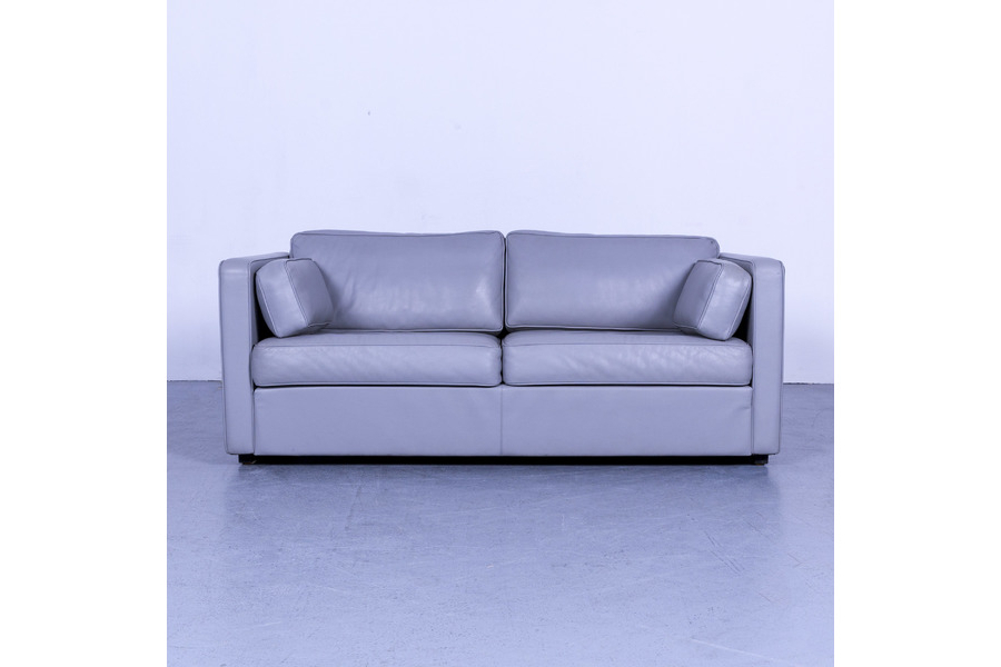 Well Known Walter Leather Sofa Chairs With Regard To Walter Knoll Designer Leather Sofa Gray Two Seater Couch Real (View 18 of 20)