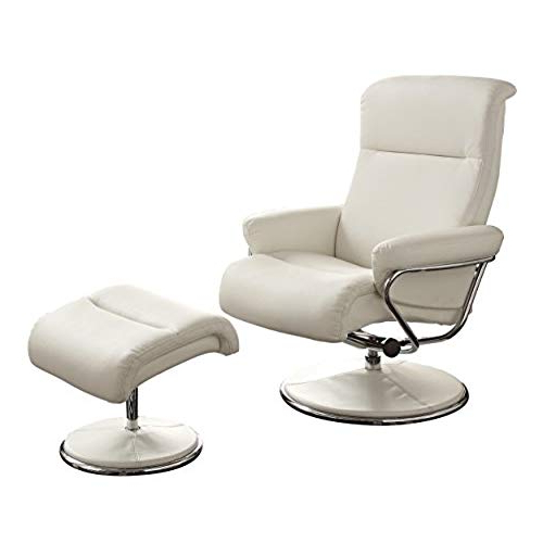 Well Known White Leather Recliner Chair: Amazon Inside Amala White Leather Reclining Swivel Chairs (View 19 of 20)