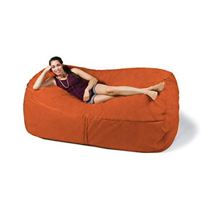 Well Liked Amazon: Jaxx 7 Ft Giant Bean Bag Sofa, Mandarin: Kitchen & Dining Pertaining To Bean Bag Sofa Chairs (View 3 of 20)