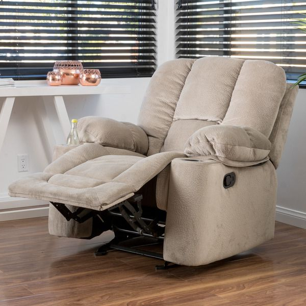 Well Liked Gannon Linen Power Swivel Recliners With Regard To Christopher Knight Home Gannon Fabric Glider Recliner Club Chair (View 18 of 20)