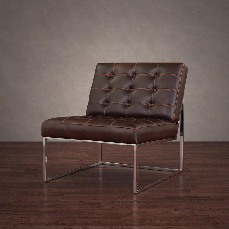 Well Liked Swivel Tobacco Leather Chairs Regarding Brooklyn Vintage Tobacco Brown Leather Lounger (View 16 of 20)