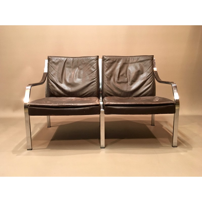 Well Liked Walter Leather Sofa Chairs Regarding Vintage Leather Sofawalter Knoll – 1960S – Design Market (View 19 of 20)