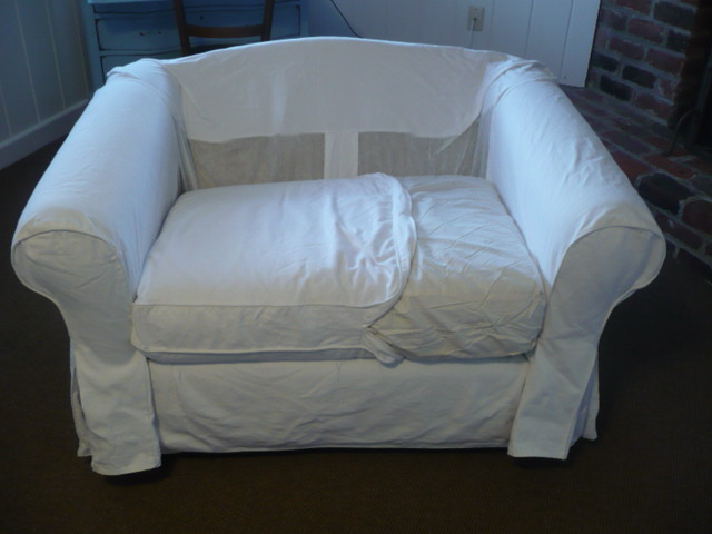 Westhampton Diy: Converting An Ikea Slipcover To Fit A Non Ikea Chair With Regard To Preferred Sofa And Chair Slipcovers (View 11 of 20)