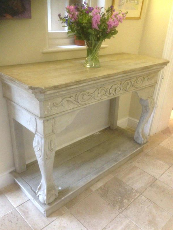 White Distressed Console Table Adorable Distressed Console Table Intended For Newest Antique White Distressed Console Tables (View 4 of 20)