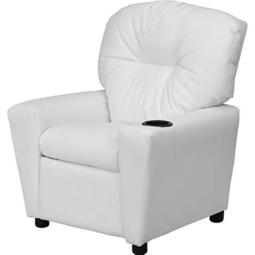 White Leather Recliner Chair: Amazon Within Most Popular Amala White Leather Reclining Swivel Chairs (View 6 of 20)
