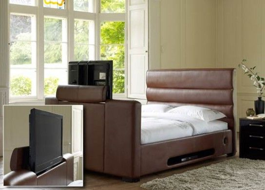 Widely Used 32 Inch Tv Beds Regarding Chav Bed For The Boudiorbarcelona 32 Inch Tv Bed – Dark Tan (View 20 of 20)