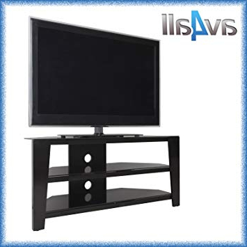 Widely Used 55 Inch Corner Tv Stands Regarding Avf Vico Black Corner Tv Stand For Up To 55 Inch Tvs: Amazon.co (View 18 of 20)
