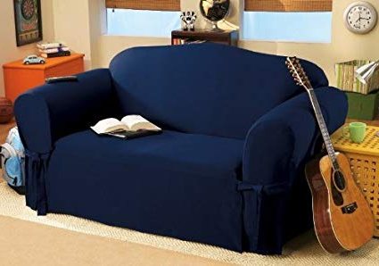 Widely Used Amazon: Solid Suede Couch Cover 3 Pc (View 19 of 20)