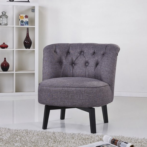 Widely Used Dark Grey Swivel Chairs With Shop Gold Sparrow Raleigh Dark Grey Swivel Chair – Free Shipping (View 18 of 20)