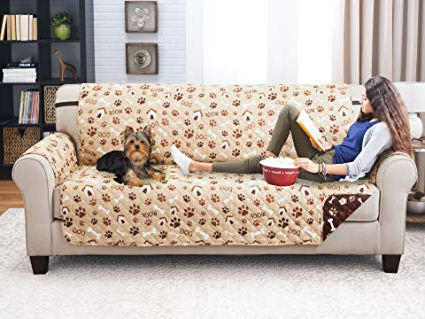 Widely Used Karen Sofa Chairs Within Amazon: Elaine Karen Deluxe Reversible Sofa Furniture Protector (View 20 of 20)