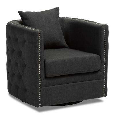 Widely Used Katrina Grey Swivel Glider Chairs Pertaining To Swivel – Accent Chairs – Chairs – The Home Depot (View 17 of 20)