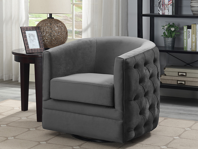 Widely Used Living Room Throughout Chadwick Gunmetal Swivel Chairs (View 6 of 6)
