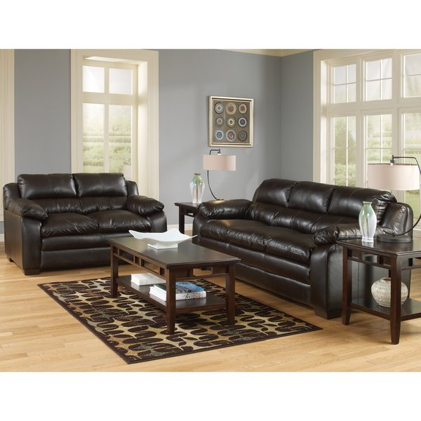 Widely Used Shop Art Van Maddox Espresso Sofa And Loveseat Set – Free Shipping Within Maddox Oversized Sofa Chairs (View 20 of 20)