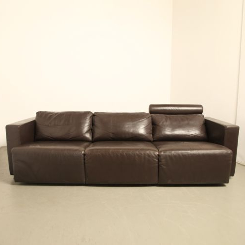 Widely Used Vintage Modular Brown Leather Sofawalter Knoll For Sale At Pamono Inside Walter Leather Sofa Chairs (View 3 of 20)