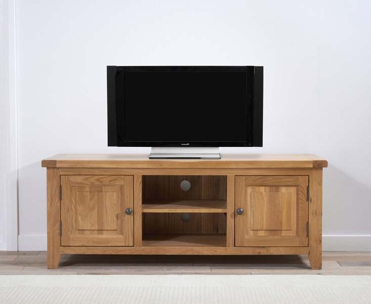 York 150Cm Oak Tv Unit  Swagger Inc Throughout Best And Newest 150Cm Tv Units (Gallery 8 of 20)