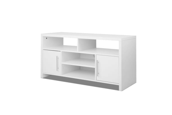 120Cm Tv Stand Entertainment Unit Adjustable Cabinet (White) – Kogan With Regard To Popular Small White Tv Stands (Gallery 16 of 20)