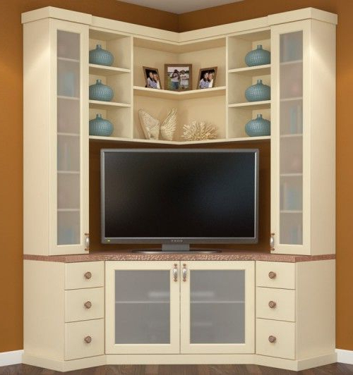20+ Best Diy Entertainment Center Design Ideas For Living Room Within Well Known Corner Tv Cabinets (View 1 of 20)