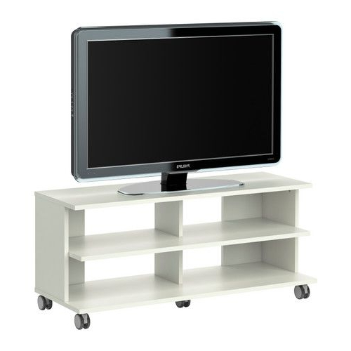 2017 Benno Tv Unit With Casters – White – Ikea •dimensions ◦Width: 46 1 Pertaining To Small Tv Stands On Wheels (Gallery 5 of 20)