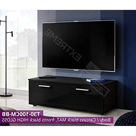 2017 Black Gloss Tv Units Pertaining To Modern Tv Unit Cabinet High Gloss Tv Stand Entertainment Lowboard (View 3 of 20)