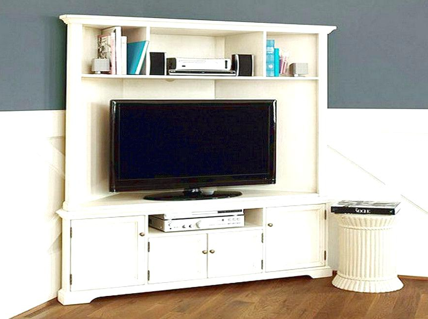 2017 Cherry Wood Tv Cabinets Regarding Wood Corner Tv Stands For Flat Screens Contemporary Corner Stand (Gallery 15 of 20)
