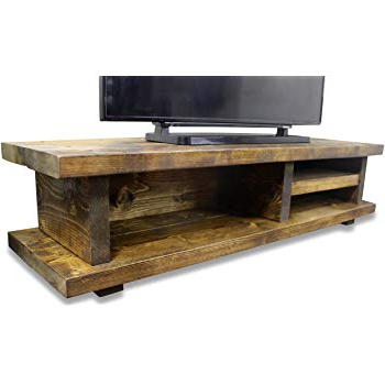 2017 Chunky Wood Tv Units With Solid Rustic Handmade Pine Canada Tv Unit, Finished In: Amazon.co.uk (Gallery 6 of 20)