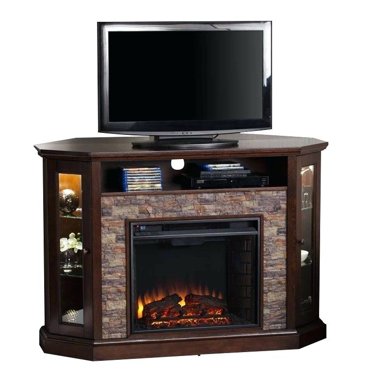 2017 Corner 60 Inch Tv Stands Within Electric Fireplace And Tv Stand In Media Console Electric Fireplace (Gallery 10 of 20)