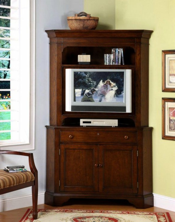 2017 Corner Tv Cabinets With Hutch With Lovely Corner Tv Hutch #1 Ideas Corner Tv Cabinet And Curio Cabinet (View 1 of 20)