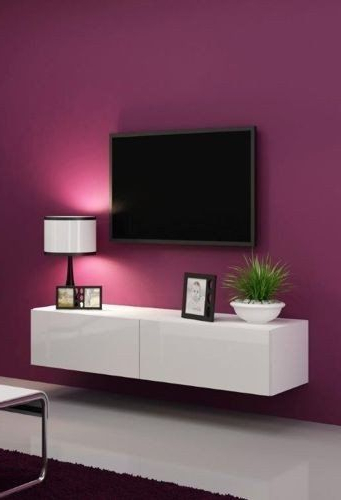 2017 Glossy White Tv Stands For High Gloss Tv Stand / Tv Cabinet / Tv Wall Unit / Tv Entertainment (View 1 of 20)