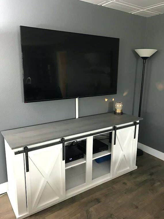 2017 Grey Tv Console Singapore Barn Door Stand Media – Eventshere Regarding Sinclair Grey 64 Inch Tv Stands (View 1 of 20)