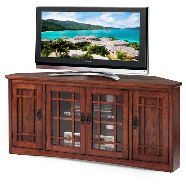 2017 Kd Furnishings Mission Oak Hardwood 60 Inch Corner Tv Stand ($400 Pertaining To Corner Tv Stands For 60 Inch Tv (View 1 of 20)