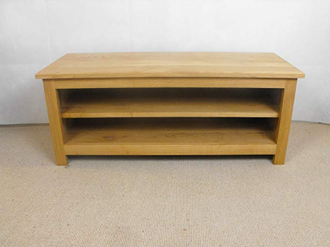 2017 Large Low 1200 To 1400mm Oak Tv Unit/stand With Adjustable Shelf Intended For Low Oak Tv Stands (View 11 of 20)