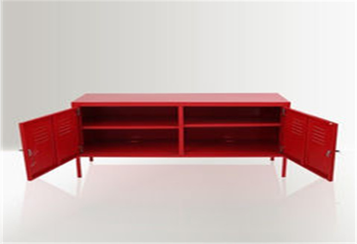 2017 Living Room Long Low Tv Cabinet , Red Durable Steel Tv Cabinet With Intended For Red Tv Cabinets (View 2 of 20)