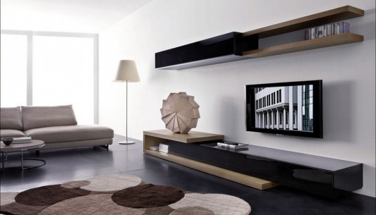2017 Modern Wall Mount Tv Stands Within Modern Living Room Wall Mounted Cabinet And Tv Stand, Sistema People (Gallery 19 of 20)