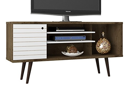 2017 Open Shelf Tv Stands Throughout Amazon: Manhattan Comfort Liberty Collection Mid Century Modern (Gallery 8 of 20)
