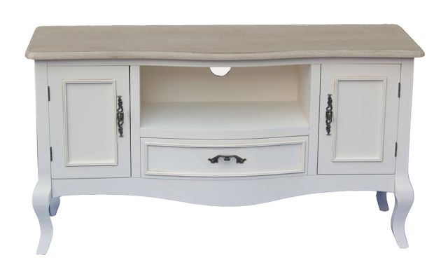 2017 Pd Global Chateau French Cream Painted Tv Cabinet – Tv Cabinets Regarding Cream Tv Cabinets (View 1 of 20)