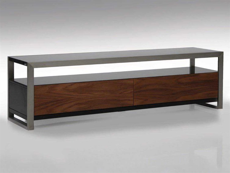 2017 Rectangular Tv Stands Throughout Mobital Brando 63 X 16 Rectangular Black/walnut Tv Stand (View 2 of 20)